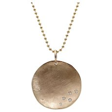 Julez Bryant Rose Gold Concave Necklace