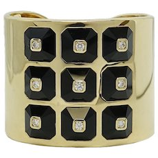 Maria Canale Yellow Gold Pyramid Collection Cuff