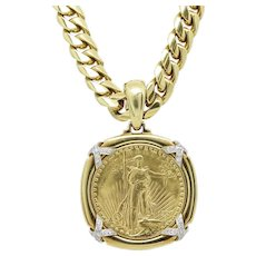 David Webb Liberty Coin Necklace