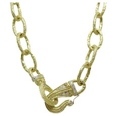 Katy Briscoe 18K Yellow Gold Link Necklace