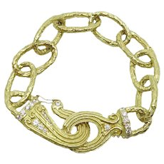 Katy Briscoe 18K Yellow Gold Oval Link Bracelet