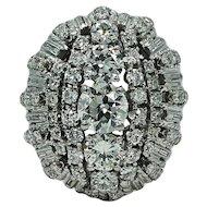 Old European Cut Diamond Platinum Ring