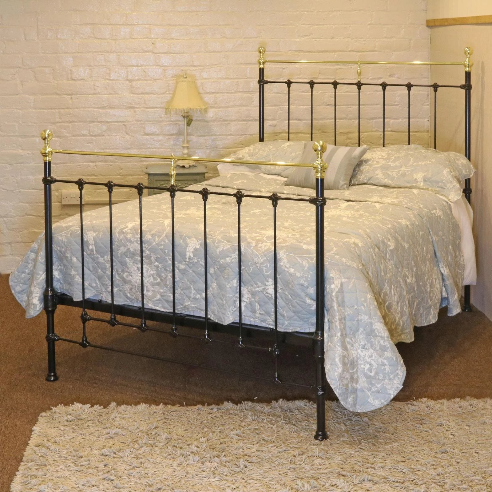 Black Cast Iron And Brass Double Bed Seventh Heaven