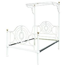 Mid-Victorian Cast Iron Half Tester Bed