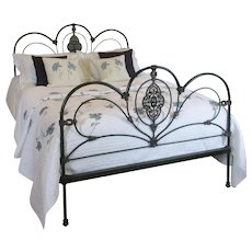 Ornate Cast Iron Bed