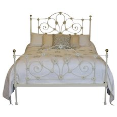 Mid - Victorian Cast Iron Bed