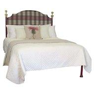 Bespoke Tartan Covered Platform Bed