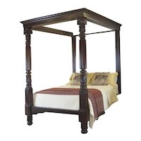 Mahogany Four-Poster Bed