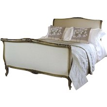 Early 20th Century Upholstered Roule Bed