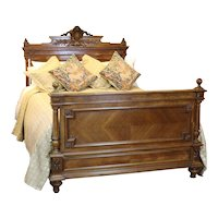 19th Century Walnut Bed