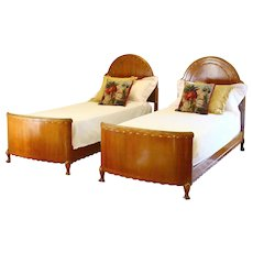 Art Deco Matching Pair of Twin Single Beds