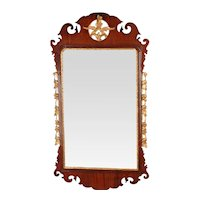 George II Mahogany and Parcel-Gilt Mirror