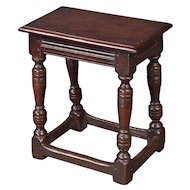 A Good Charles I Oak Joint Stool