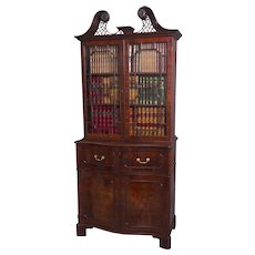 The Norfolk House George II Mahogany Secretaire Bookcase