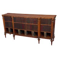 Sheraton Period Satinwood Low Breakfront Cabinet