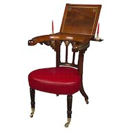 Rosewood and Brass Inlaid Regency Library Reading Chair