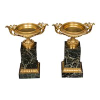 Pair Regency Period Ormolu and Marble Tazza