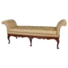 George II Walnut & Shell Carved Day-Bed