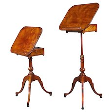 Pair of George III Telescoping Reading Tables Attributed to Gillows