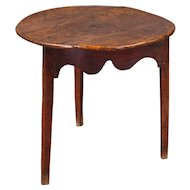 18th Century Elm and Oak Cricket Table
