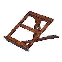 An 18th Century Fruitwood Folding Adjustable Bookrest