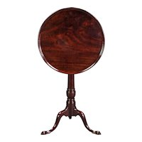 A Very Good George II Cuban Mahogany Tripod Side Table