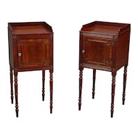 A Pair of George III Bedside Cupboards