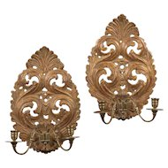 A Good Pair of Charles II Giltwood Wall Sconces