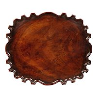A George III Mahogany Scalloped Tray