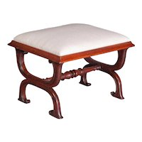 Gillows Interest: A Good George IV Rosewood X-Frame Stool c.1825-30