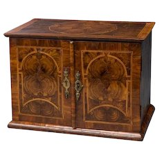 William and Mary Oyster Veneered Small Table Cabinet