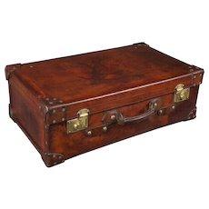 19th Century Leather Suitcase