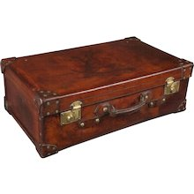 19th Century Leather Suitcase