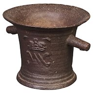 17th Century Iron Mortar