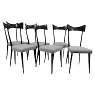 Six chairs in the style of Ico Parisi, Italy 1950's