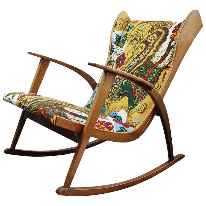 Pleasing Knoll Antimott Rocking Chair New Fabric Josef Frank 1945 Onthecornerstone Fun Painted Chair Ideas Images Onthecornerstoneorg