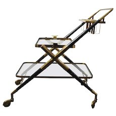 Italien Bar Cart, attributed CESARE LACCA 1940/50s