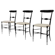 3 'Campanino' Chiavari chairs, first decade of the 20th century