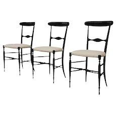 3 'Campanino' Chiavari chairs, first decade of the 20th century