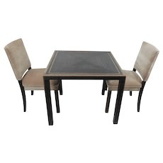 solid table with five chairs, Germany 1930's