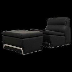 Horst Brüning Lounge Chair with Ottoman, Kill International, 1972