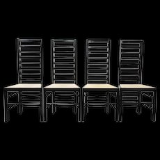 Charles Rennie Mackintosh a Set of Four Chairs 'Willow 2', 1904