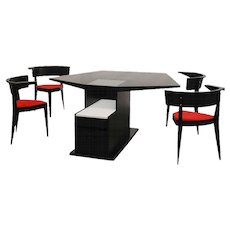 Stefan Wewerka 'M2 dining table with kitchen base' and 4 chairs 'B1'