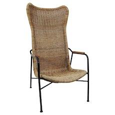 Dirk van Sliedregt 'Serie 514', wicker armchair 1950's