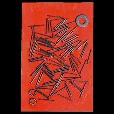 """Fernandez Arman """"Nails"""" Edition Jannink, Paris, 1970's"""