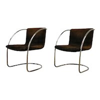 """Giovani Offredi """"Lens"""" a pair of Lounge Chairs, Saporiti"""