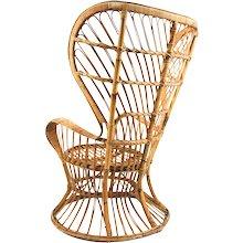 Gio Ponti 'Wicker Chair', Bonacina 1950's