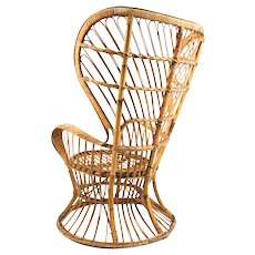 Gio Ponti 'Wicker Chair', Bonacina 1950's