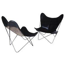 Pair of 'Butterfly' chairs, Ferrari Hardoy, Kurchan and Bonet, 1938