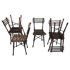 Set of six Thonet garden chairs